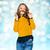 mutlu · genç · kadın · bıyık · saç · duygular - stok fotoğraf © dolgachov