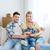 счастливая · семья · коробки · движущихся · новый · дом · ипотечный · люди - Сток-фото © dolgachov