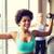 группа · счастливым · женщины · гантели · спортзал · фитнес - Сток-фото © dolgachov
