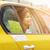 счастливым · афроамериканец · женщину · вождения · такси · командировка - Сток-фото © dolgachov
