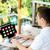 empresário · laptop · terraço · pessoas · de · negócios · mídia - foto stock © dolgachov
