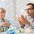 отцом · сына · играет · мяча · глина · домой · семьи - Сток-фото © dolgachov