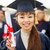 close up of happy student or bachelor with diploma stock photo © dolgachov