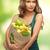 elegante · dame · oranje · boodschappentas · witte · vrouw - stockfoto © dolgachov