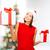 güzellik · zarif · kadın · Noel · sunmak · kutu - stok fotoğraf © dolgachov