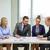 equipe · de · negócios · reunião · escritório · negócio · trabalhando · comunicação - foto stock © dolgachov