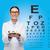женщину · очки · глаза · диаграммы · медицина · видение - Сток-фото © dolgachov