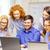 sorridente · equipe · laptop · informática · escritório · negócio - foto stock © dolgachov