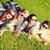 csoport · diákok · tinédzserek · park · nyár · ünnepek - stock fotó © dolgachov