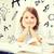 diák · lány · tanul · iskola · oktatás · kicsi - stock fotó © dolgachov