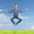 homme · méditation · yoga · jeune · homme · herbe · verte - photo stock © dolgachov