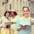 gelukkig · tienermeisjes · tonen · stad · zomer - stockfoto © dolgachov