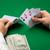 trois · puces · vert · table · poker - photo stock © dolgachov