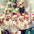 サンタクロース · セット · 孤立した · 白 · 背景 - ストックフォト © dolgachov