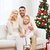 happy family at home with christmas tree stock photo © dolgachov