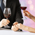 comprometido · casal · copos · de · vinho · amor · família · aniversário - foto stock © dolgachov