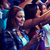 mujer · multitud · noche · vista - foto stock © dolgachov