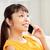 kadın · çağrı · yaşayan · cep · telefonu · oturma - stok fotoğraf © dolgachov