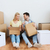 Pareja · cajas · movimiento · nuevo · hogar · sonriendo · mujer - foto stock © dolgachov