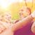 smiling couple in autumn park stock photo © dolgachov