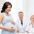 ginecologista · feliz · mulher · grávida · hospital · gravidez · medicina - foto stock © dolgachov