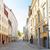 旧市街 · 狭い · 通り · 家 · 旅行 · 石 - ストックフォト © dolgachov