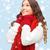 kadın · kazak · eşarp · eldiveni · kış · insanlar - stok fotoğraf © dolgachov