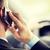 man · telefoon · rijden · auto · vervoer · voertuig - stockfoto © dolgachov