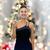 güzel · bir · kadın · şampanya · noel · ağacı · insanlar · tatil · kutlama - stok fotoğraf © dolgachov