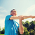 笑みを浮かべて · 男 · ストレッチング · 屋外 · フィットネス · スポーツ - ストックフォト © dolgachov