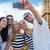 путешествия · пару · Эйфелева · башня · Париж · улыбаясь - Сток-фото © dolgachov