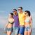 grup · mutlu · arkadaşlar · yürüyüş · plaj · yaz - stok fotoğraf © dolgachov