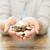 szegénység · öreg · kezek · érme · 25 · pénz - stock fotó © dolgachov