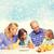 mutlu · aile · iki · çocuklar · kahvaltı · gıda · aile - stok fotoğraf © dolgachov
