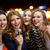 szczęśliwy · młodych · kobiet · mikrofon · śpiewu · karaoke · nowy · rok - zdjęcia stock © dolgachov