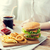 közelkép · nő · gyorsételek · kóla · emberek · egészségtelen · étkezés - stock fotó © dolgachov