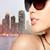 közelkép · gyönyörű · nő · fekete · napszemüveg · kellékek · szemüveg - stock fotó © dolgachov
