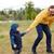 heureux · père · peu · fils · marche · extérieur - photo stock © dolgachov