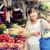 妊婦 · 買い · 食品 · 通り · 市場 · 販売 - ストックフォト © dolgachov