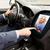 close up of man driving car and receiving call stock photo © dolgachov