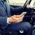 rijden · auto · telefoon · lege · scherm - stockfoto © dolgachov