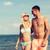 feliz · Pareja · caminando · verano · playa - foto stock © dolgachov