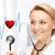desenho · batimento · cardíaco · coração · lápis · medicina · pintura - foto stock © dolgachov