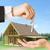 közelkép · férfi · nő · ház · kulcsok · ingatlan - stock fotó © dolgachov
