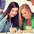 tinédzserek · mutat · jókedv · tini · tinédzserek · verseny - stock fotó © dolgachov