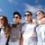 groep · tieners · buiten · zomer · vakantie - stockfoto © dolgachov