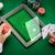 kaszinó · póker · játékos · kártyák · tabletta · sültkrumpli - stock fotó © dolgachov