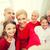 smiling family making selfie at home stock photo © dolgachov