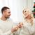 幸せ · 男 · 婚約指輪 · 女性 · ホーム · 愛 - ストックフォト © dolgachov
