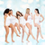 group of happy different women in white underwear stock photo © dolgachov